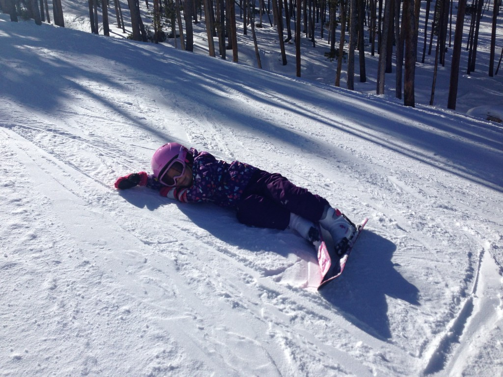 Anna getting a little tired after two solid days of skiing