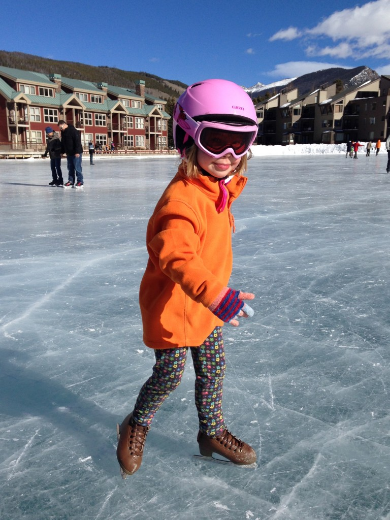 Anna is always styling - even as she skate on Keystone Lake.