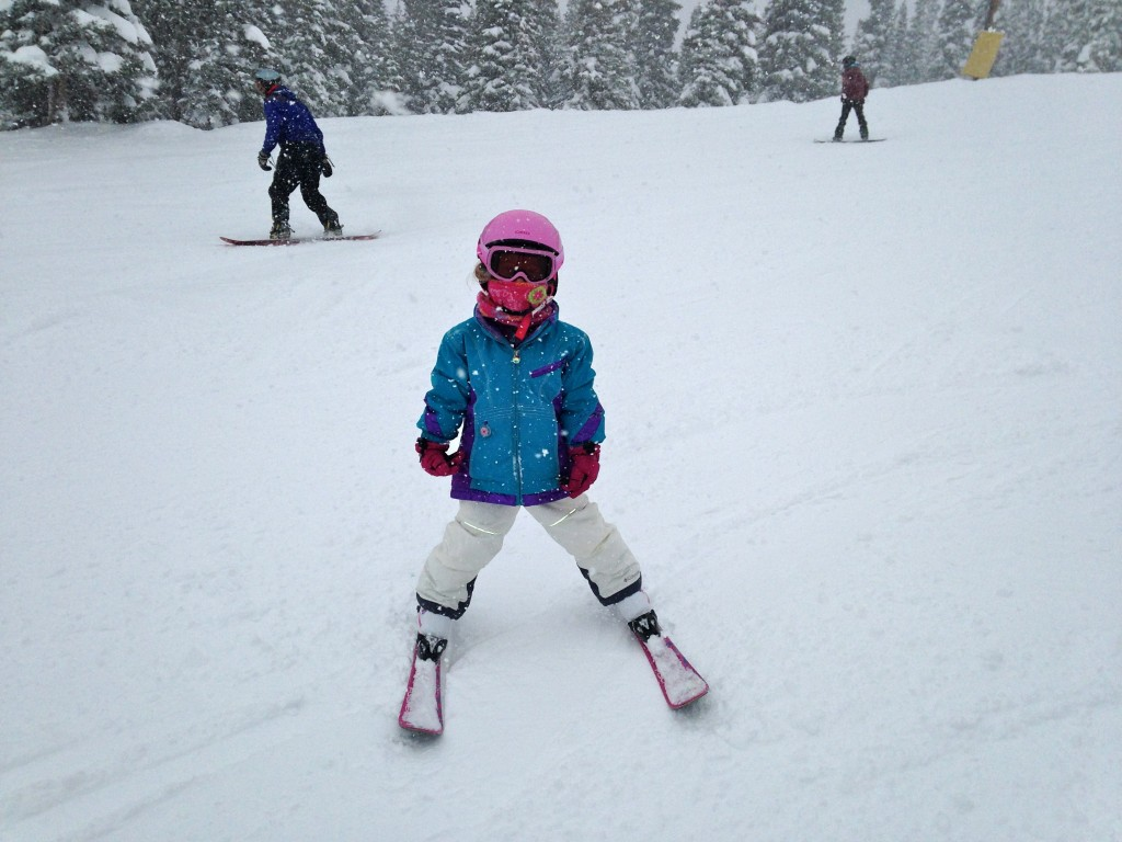 Anna at Keystone on a powder day