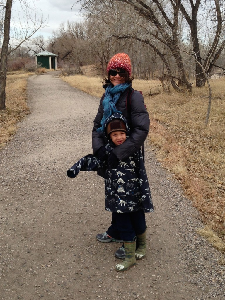 Braving the cold and the wind for a winter hike at Bluff Lake
