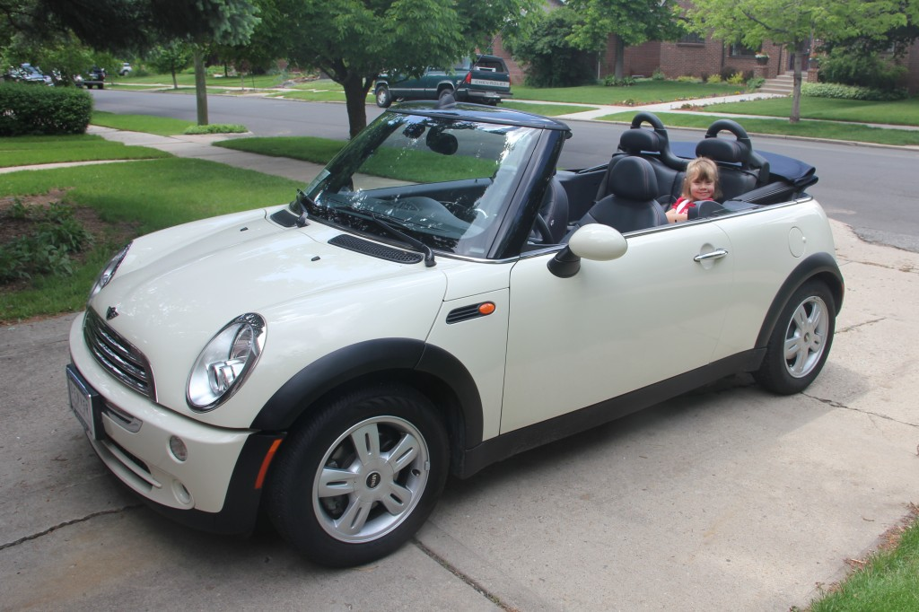 Anna just loves our new MINI convertible