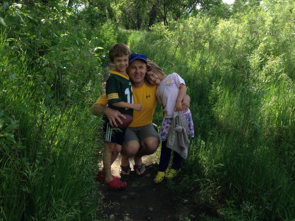 On Father's Day we went for a hike along Cherry Creek - an urban jungle