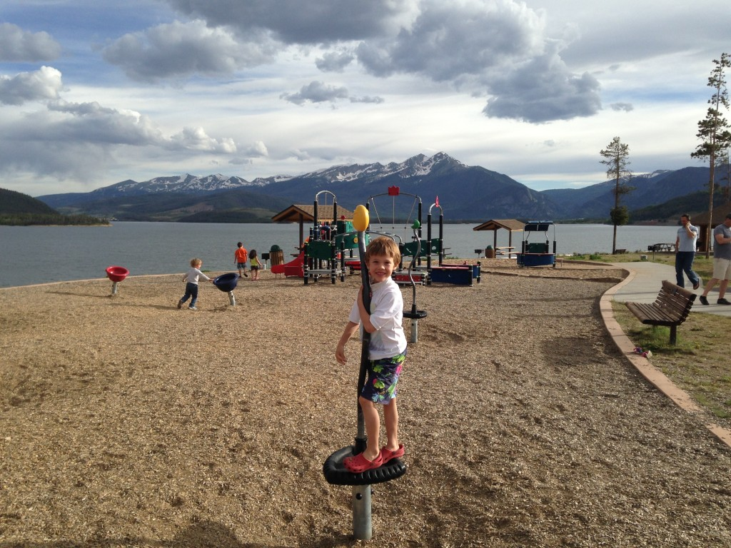 Probably the most scenic kids playground in Colorado - by Lake Dillon