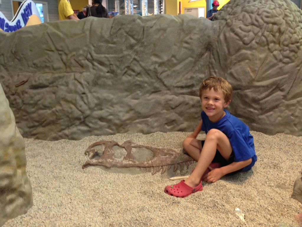 Jude playing in the new kids area at the Denver Museum of Nature & Science