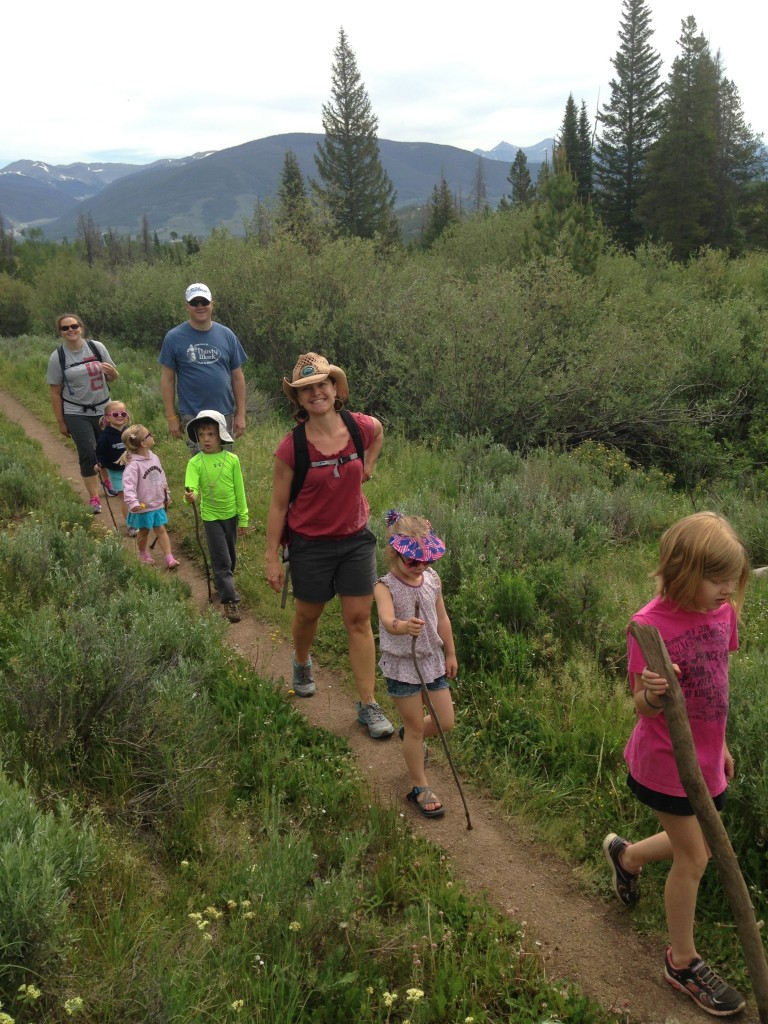Hiking on the Lily Pad Lake trail near Keystone