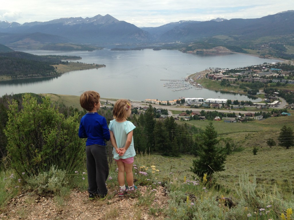 On the Tenderfoot Mountain trail overlooking Lake Dillon