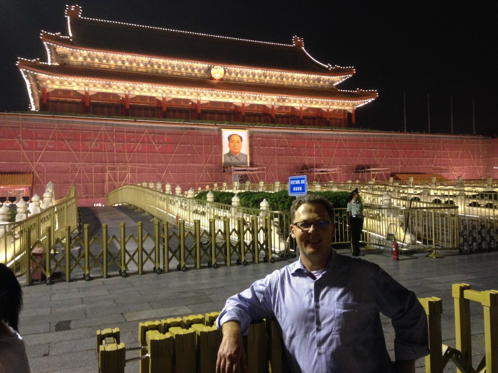Me and my buddy Chairman Mao in Tiananmen Square in Beijing