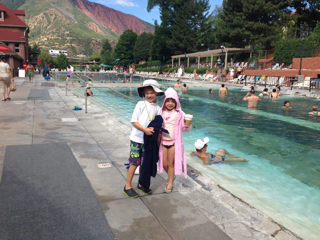 Jude and Anna at the Glenwood Springs pool