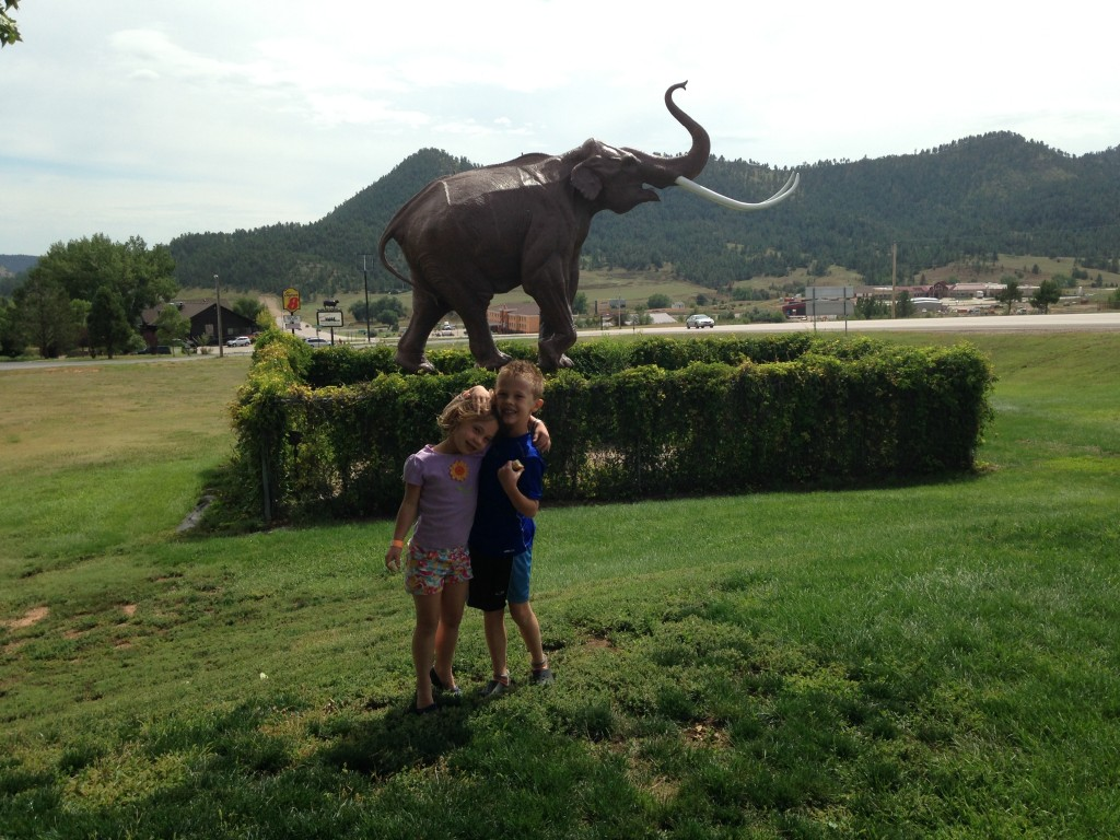 Outside the Mammoth site in Hot Springs, SD