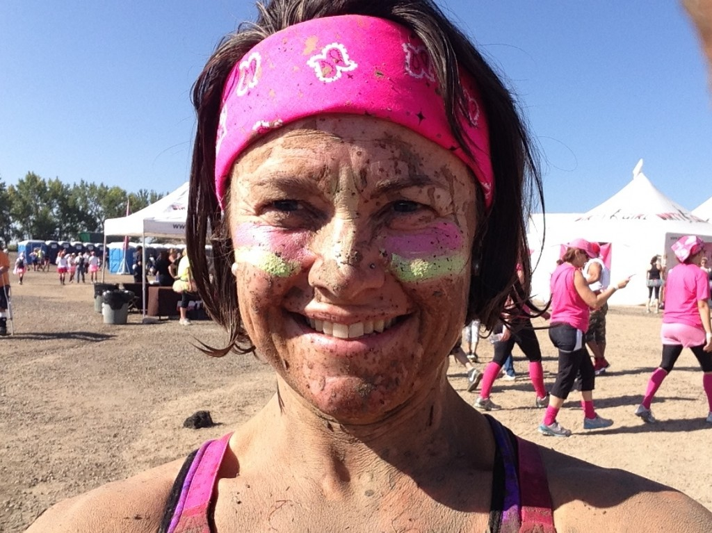 After completing the Dirty Girl race