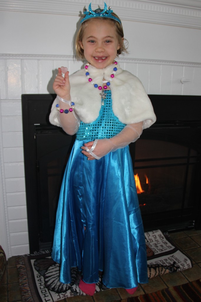 Anna all dressed up for the Superbowl party