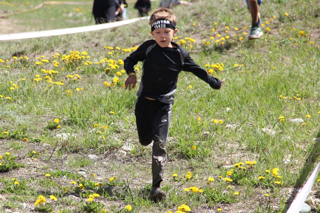 Jude running in the Kids Spartan race