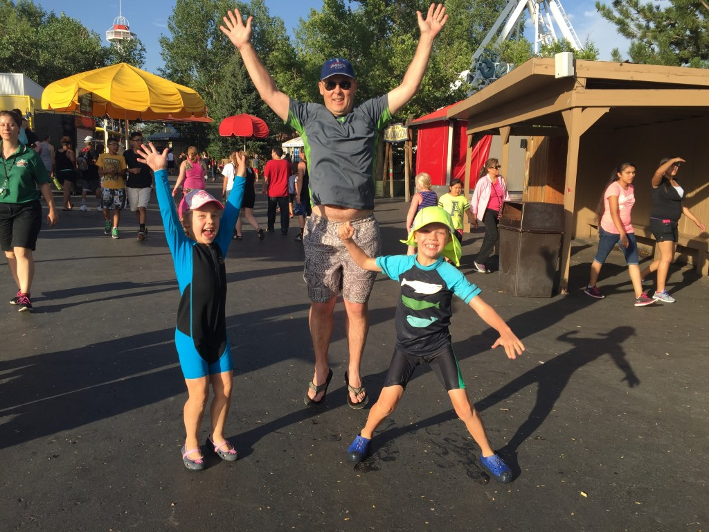 At Elitch's after a fun filled afternoon