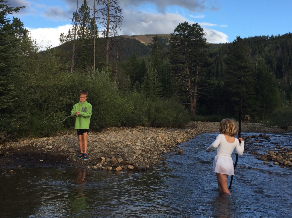 Hanging out by the Snake River in Keystone