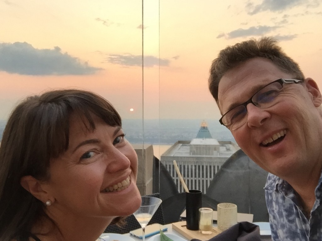 A sunset dinner at the Rainbow Room on top of the Rockefeller Center in New York City