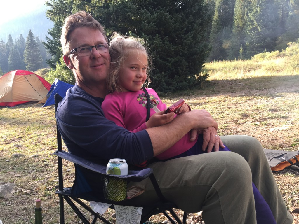 Enjoying our first family camping trip