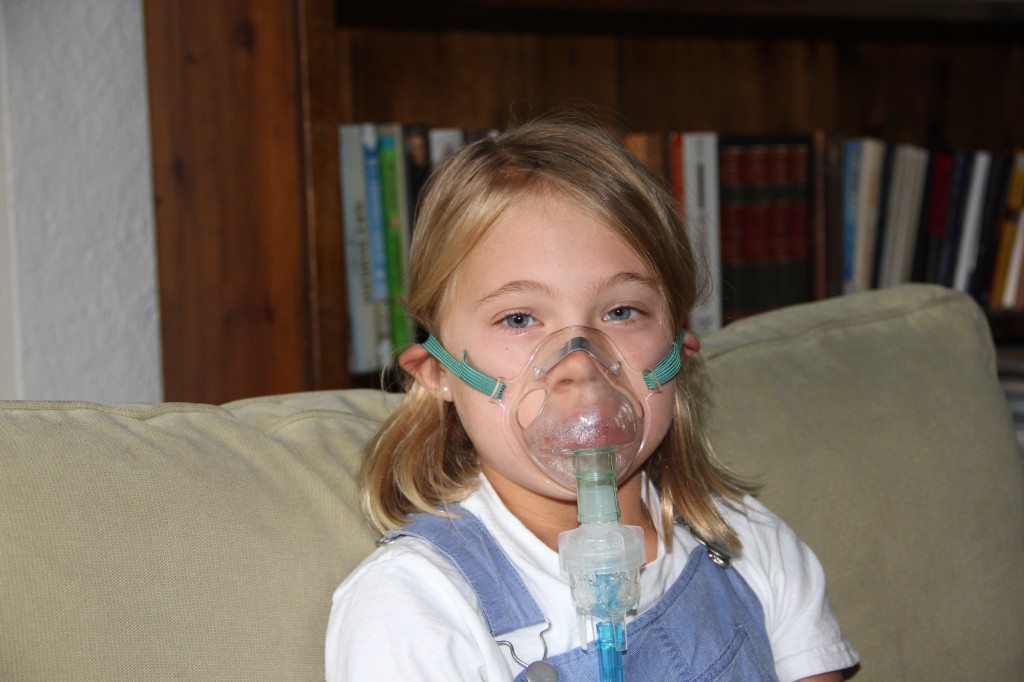 Anna had nebulizer treatments multiple times every day this week