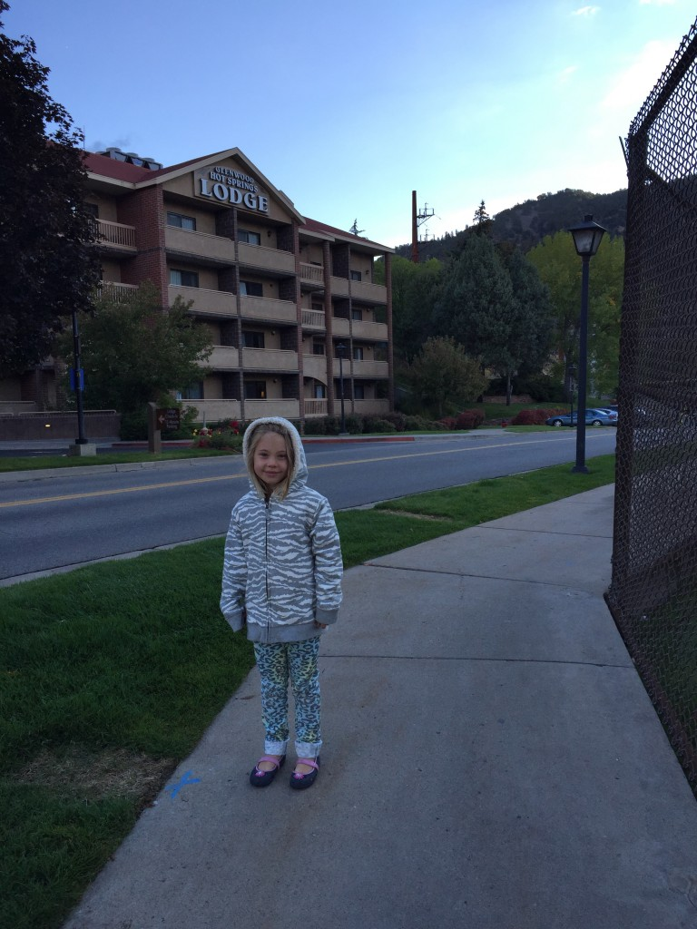 Anna at Glenwood Springs with Marcy