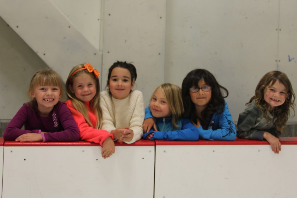 Anna and her friends at the skating rink