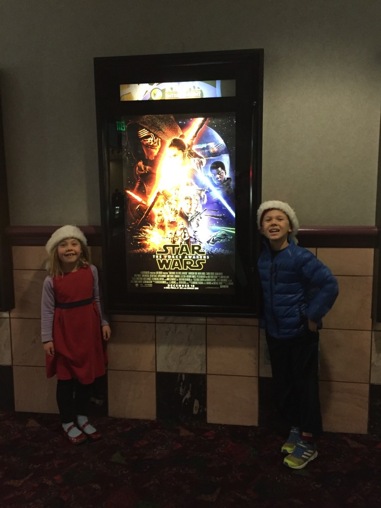 Going to see the new Star Wars movie downtown
