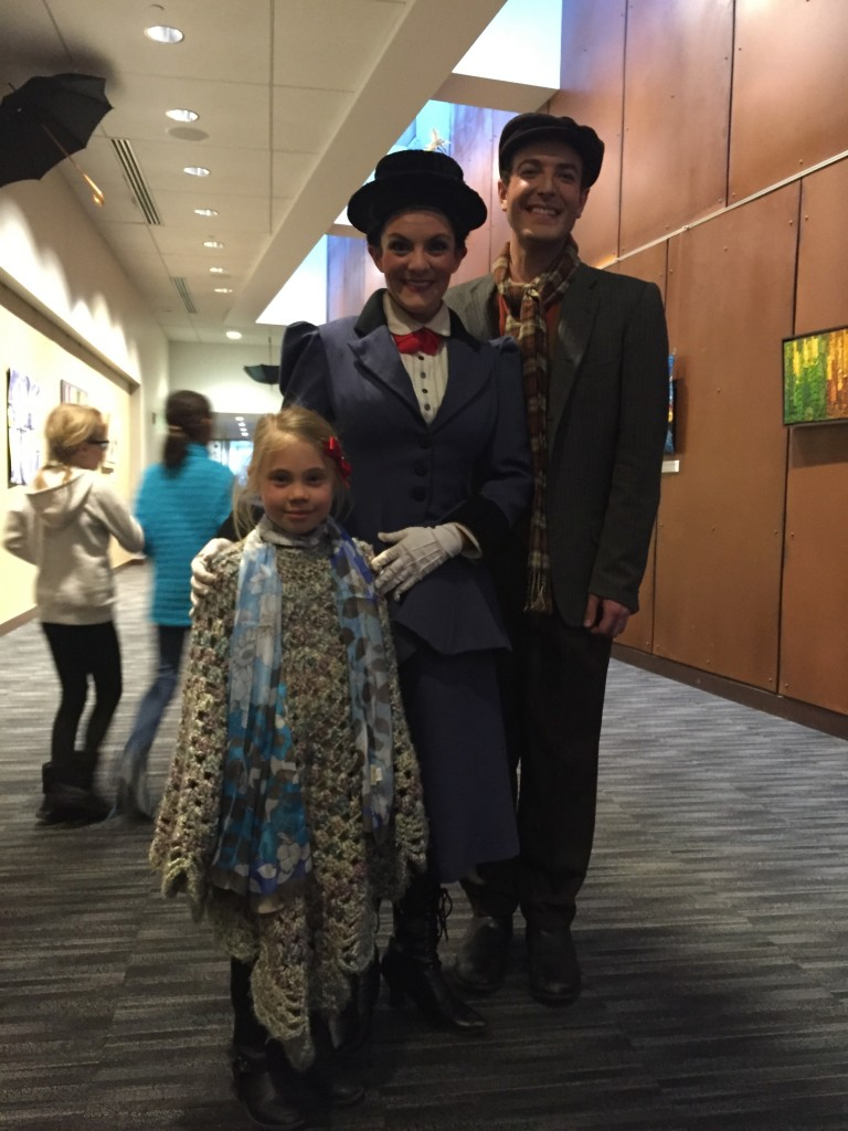 Anna with Mary Poppins and Bert the Chimney Sweep