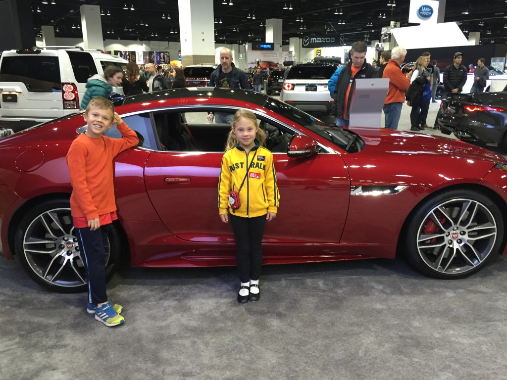 At the Denver Car Show in front of a beautiful Jaguar F-Type