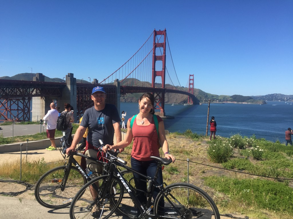 We rode bikes to Sausalito from downtown SF - going back and forth on the Golden Gate