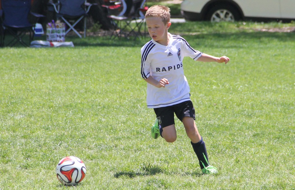Jude in action during his last game of the season