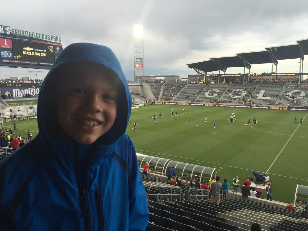 Jude went to his first international soccer match: Brazil vs Panama