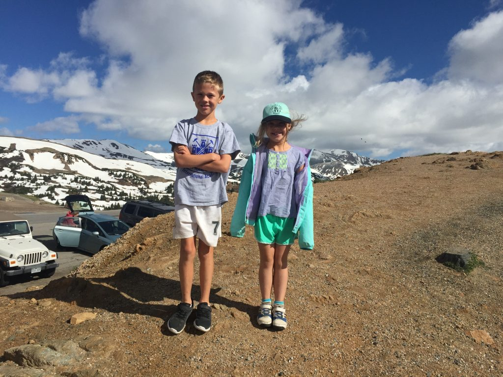 At Loveland Pass (12,000 ft) and a chilly 41 degrees