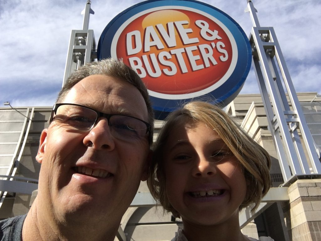 Anna and me outside Dave & Busters today