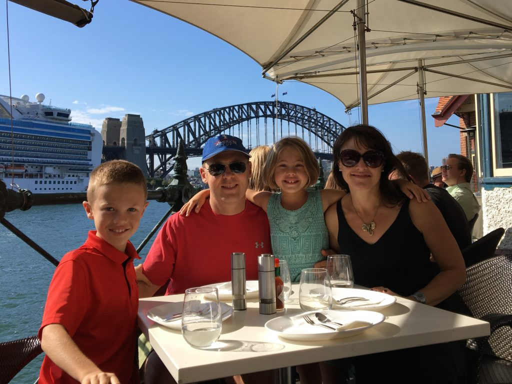 At one of our favorite restaurants, the Sydney Oyster Bar, where Anna tried her first oyster