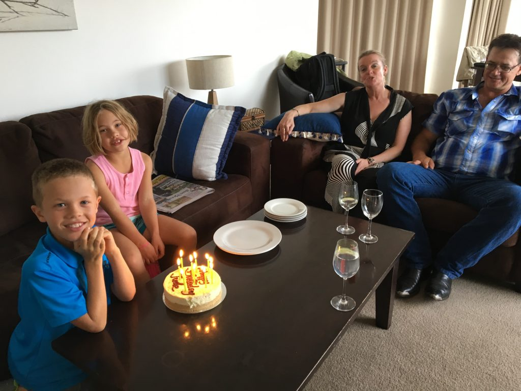 Jude's birthday week celebration begins with Uncle Mark and Aunt Robyn