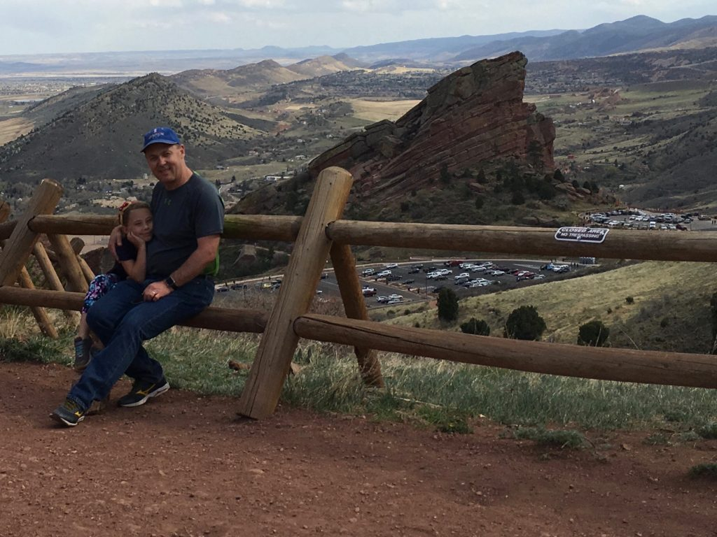 On an Anna and Daddy date at Red Rocks