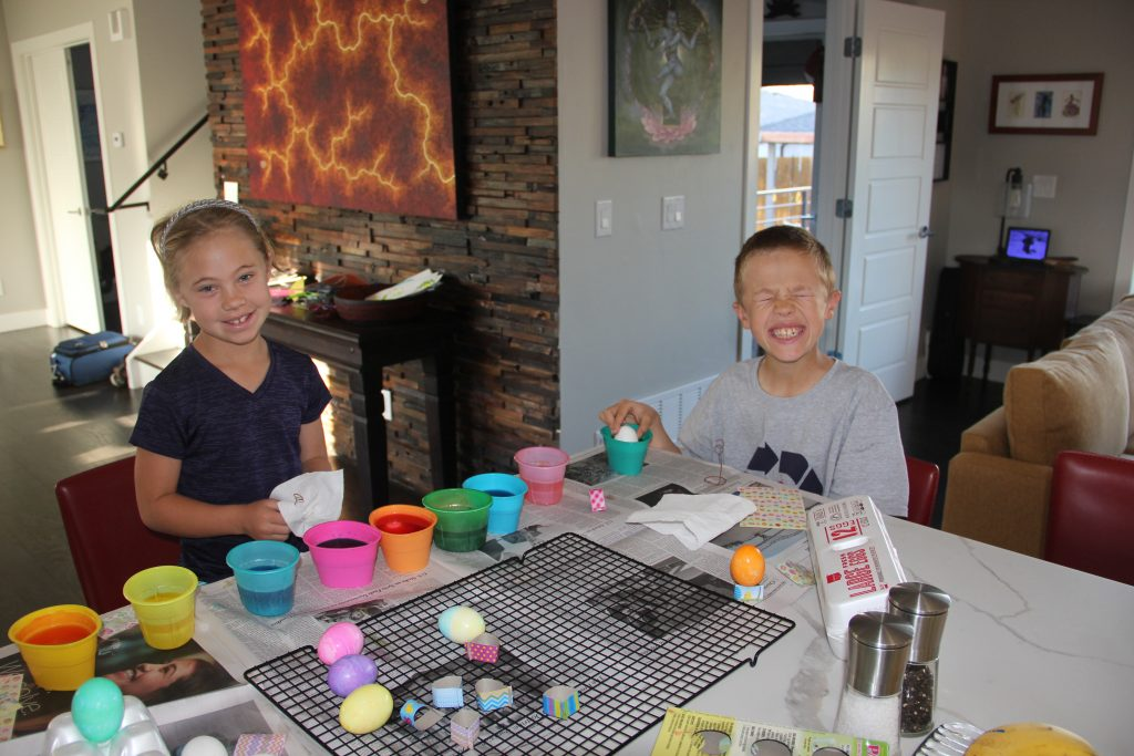 The annual ritual of dyeing Easter Eggs