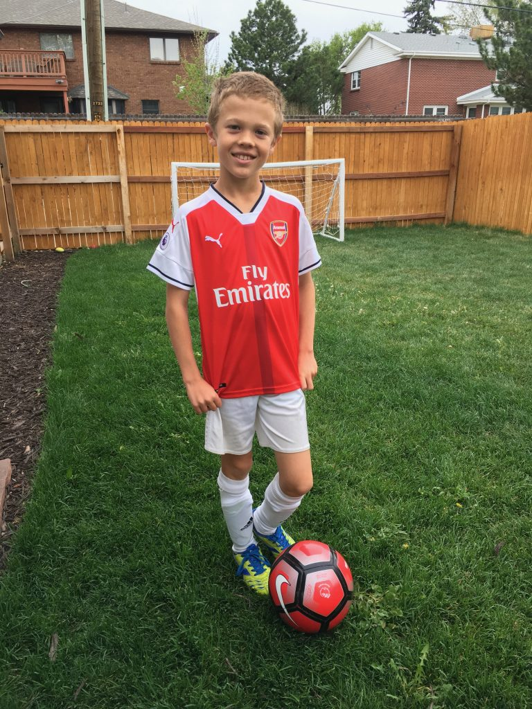 I bought Jude a genuine Arsenal jersey in England