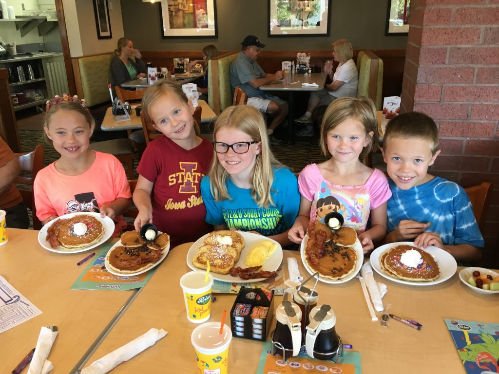 The kids love to go to Perkins for breakfast