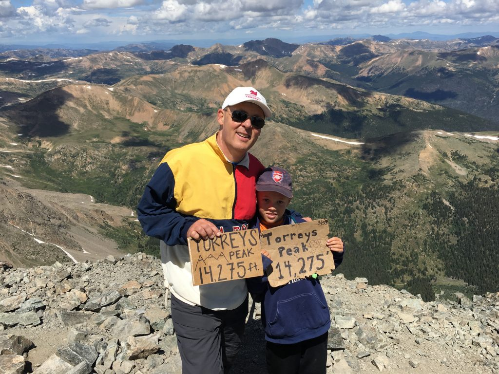 On top of Torreys Peak, our second 14er of the day