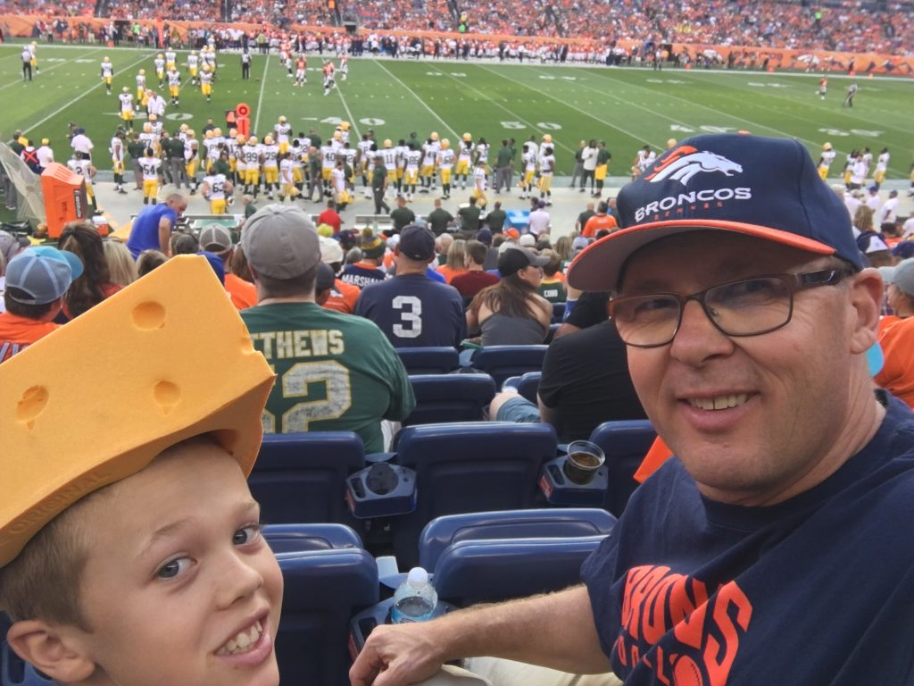 At the Broncos-Packer game