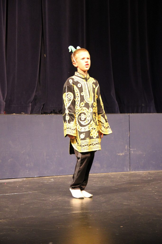 Jude doing a monologue in his school play