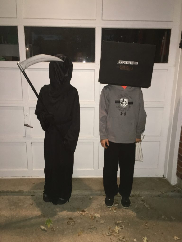 The Grim Reaper (Jude) and Santi ready to hit the neighborhood