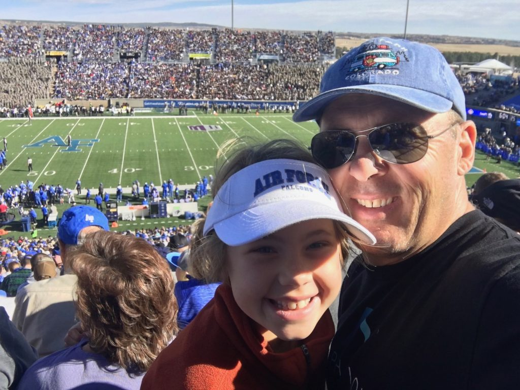 Anna and me at the Air Force Falcons football game