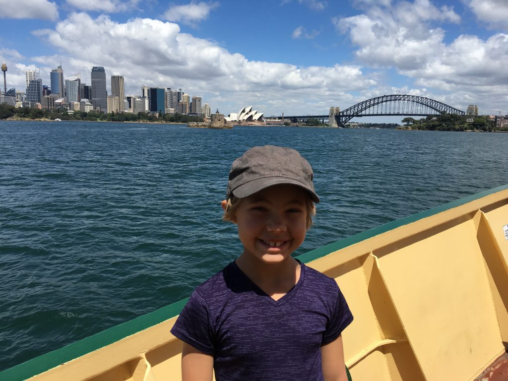 On the Manly Ferry into Circular Quay