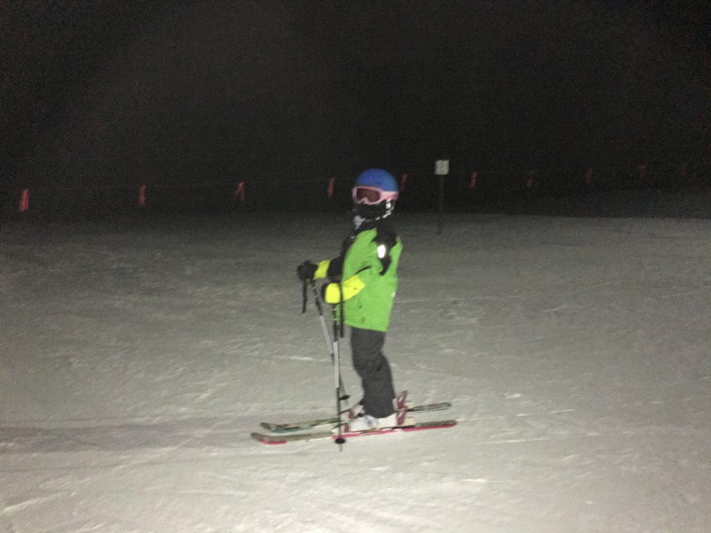 Anna goes night skiing for the first time
